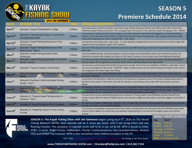 KFS WFN Airing Schedule 2014